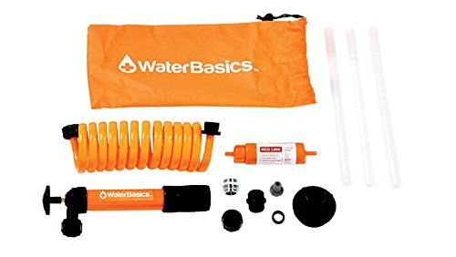 WaterBasics Emergency Pump and Filter Kit. (RED-II-120) (Purifying Water Straw)