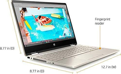 2020 HP Pavilion x360 2-in-1 Laptop Computer/ 14″ Full HD Touchscreen/ 10th Gen Intel Core i5-10210U Up to 4.1GHz/ 8GB DDR4 Memory/ 256GB PCIe SSD + 16GB Optane/ AC WiFi/ HDMI/ Gold/ Windows 10 41sj5eEITKL