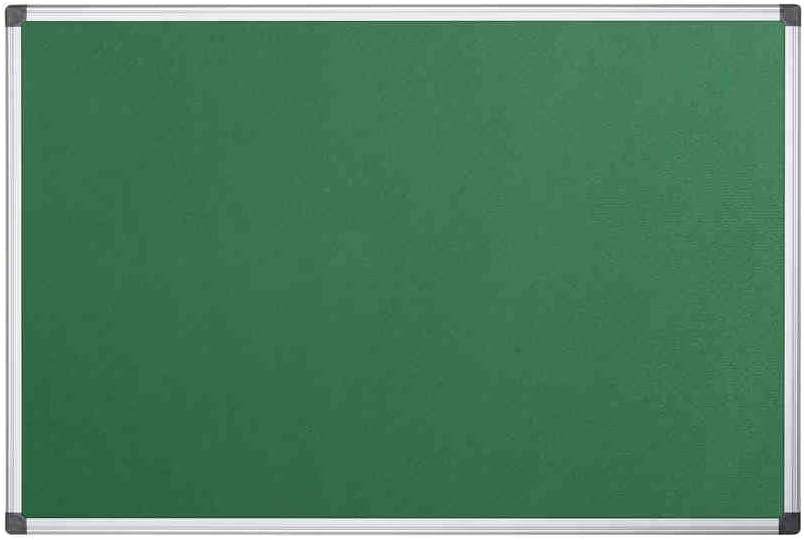 Bi-Office Maya - Tablero de anúncios con marco de aluminio, 60 x 45 cm, fieltro verde