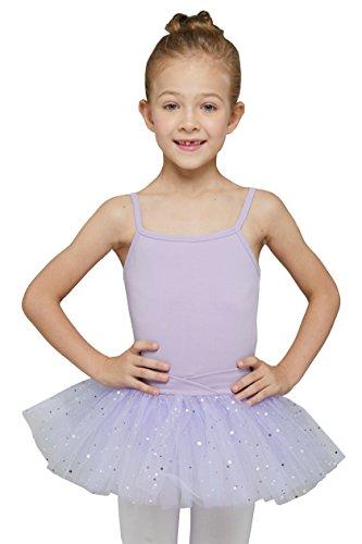 Camisole Tutu Leotard for Kids by MdnMd (Tag 120) Age 4-6 ,Purple) (Purple Leotard And Tutu)