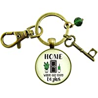 New House Keychain Home Where Our Story Begins Southwestern Style Key Charm Housewarming Closing Gift From Realtor