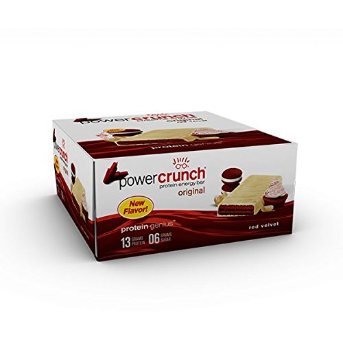 - Power Crunch Protein Energy Bar, Red Velvet, 12 Count