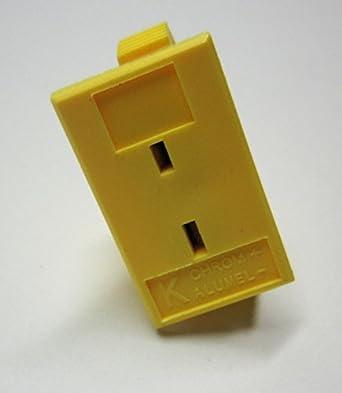 K Type Thermocouple Mini Connecteur mâle /& femelle jaune Plug /& Socket