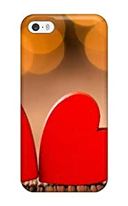 Best Iphone 5/5s Case Slim [ultra Fit] Two Hearts Together Protective Case Cover