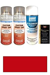 1996 Dodge All Other Models Candy Apple Red Metallic Tricoat HC/RHC Touch Up Paint Spray Can Kit by PaintScratch - Original Factory OEM Automotive Paint - Color Match Guaranteed