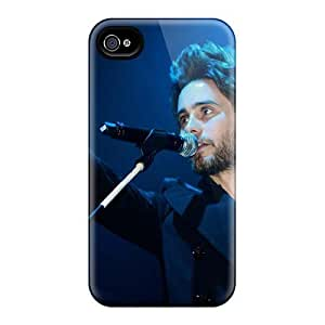 Durable Hard Cell-phone Cases For Iphone 4/4s With Customized Attractive 30 Seconds To Mars Band 3STM Series Marycase88