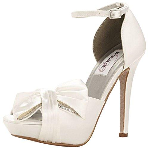 Davids Bridal Jay Plateforme Teint Peep Toe Pompe Style Jay Blanc ... 2fa6754e6671