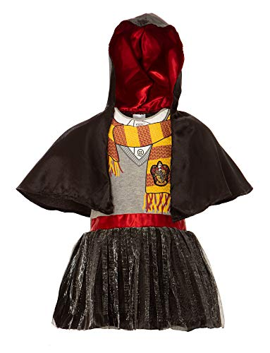 Warner Bros. Harry Potter Toddler Girls' Hooded Costume Ruffle Dress with Cape (3T) -