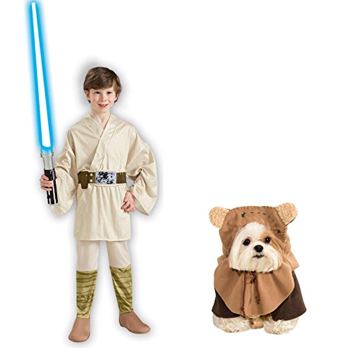 [Star Wars Luke Skywalker Child Large Ewok Pet Large Bundle Set] (Star Wars Dog Costumes Ewok)