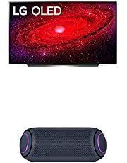 "LG OLED55CXPUA Alexa Built-in CX 55"" 4K Smart OLED TV (2020) w/ PL7 XBOOM Go Water-Resistant Wireless Bluetooth Party Speaker"