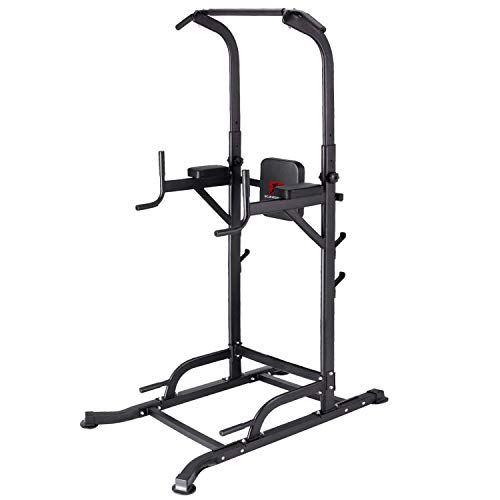 K KiNGKANG Power Tower Adjustable Height Multi-Function Home Strength Training Fitness Workout Station, T056 (Seated Dip Machine)