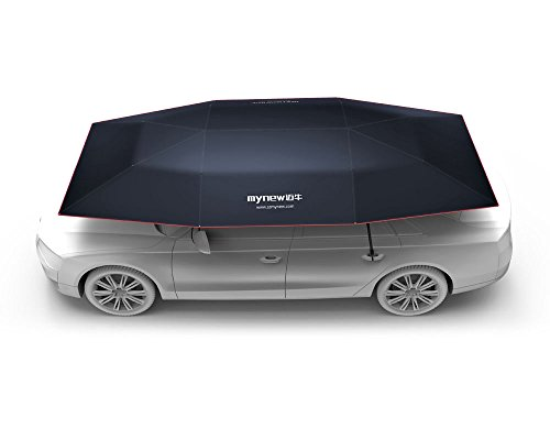 Mynew Carport Automatic Car Tent Sun Shade Canopy Cover Foldaway Portable Car Umbrella with Remote Control 90x165 Inches Dark Blue by Mynew