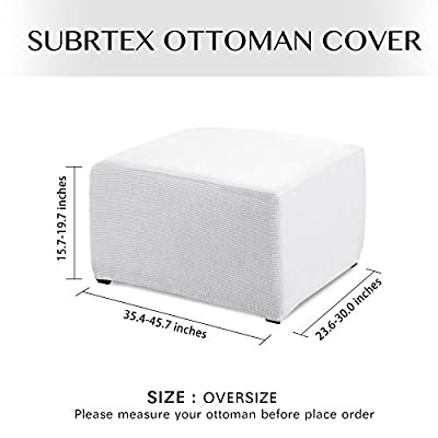 Subrtex Spandex Stretch Pique Oversize Ottoman Slipcover …