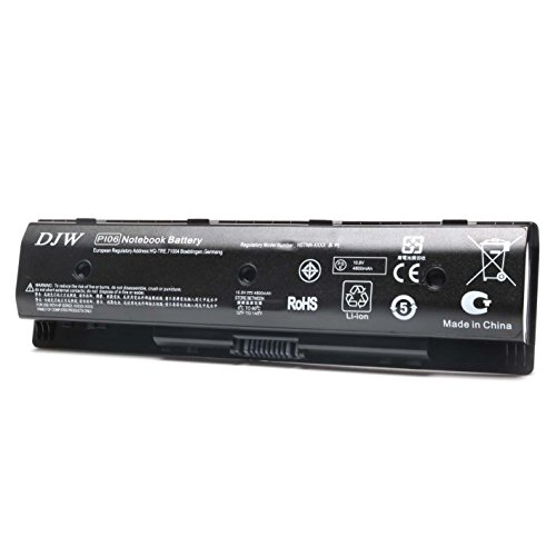 001 Hp Notebook (DJW Laptop Battery for HP PI06 PI09 710416-001 710417-001, Envy 15 15T 17 Pavilion 14-E000 15-E000 15t-e000 15z-e000 17-E000 17-E100 17Z-E100-12 Months Warranty)