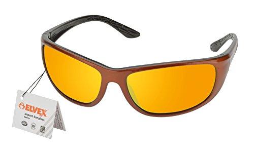 Sunglasses, Copper/Black Frame/Orange Mirror Lens ()