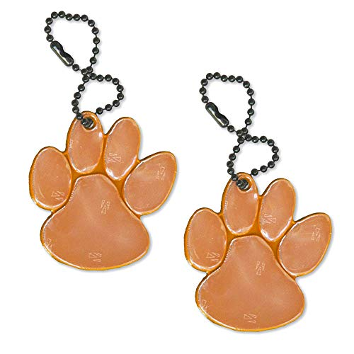 (funflector Safety Reflector - Spirit Wear Paw - Orange/Black -)