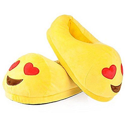 niceEshop(TM) Holidayli Unisex Boys Girls Warm Soft Cozy Plush Emoji Slippers Indoor House Cute Slippers