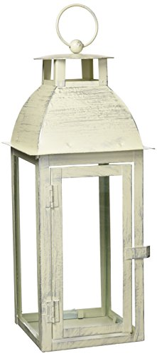 Gifts & Decor Home Garden Distressed Ivory Candleholder Lantern Stand]()