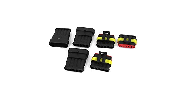 Amazon.com: Carro del coche DE 5 Pin Camino Conector impermeable 3 Kit: Car Electronics