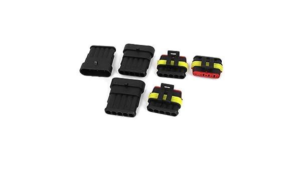 Amazon.com: Carro del coche DE 5 Pin Camino Conector impermeable 3 Kit: Car Electronics