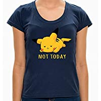 - Camiseta Pikachu Not Today - Feminina