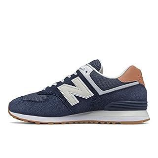 New Balance Mens 574 V2 Sneaker, Natural Indigo/FADED MAHOGANY,4.5