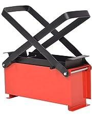 vidaXL Brikettenpers voor Papier Staal Zwart en Rood Brikettenmaker Pers