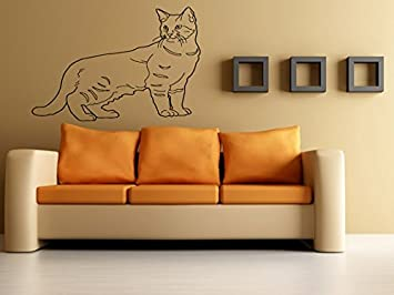 Amazon.com: Arte de la pared vinilo Gráficos Munchkin Gato ...
