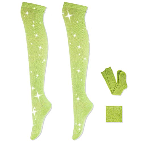 Women Fashion Knee High Socks - Novelty Opaque Knee High Boot Stockings for Fashion Women (Light Green)