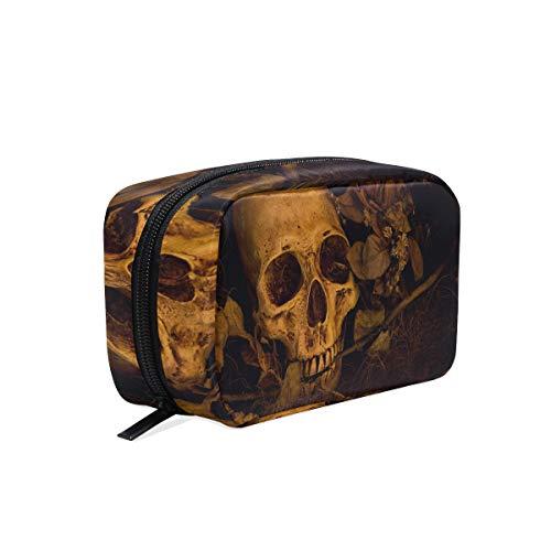 Skull Hanging Travel Toiletry Bag for Men and Women   Makeup Bag   Cosmetic Bag   Bathroom and Shower Organizer Kit   Leak Proof]()