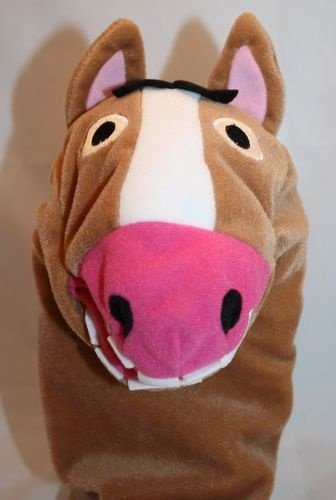 "Sven Costume For Horse (Brown Horse Pony Hand Puppet 10"" Plush Toy)"