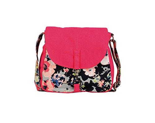 Vivinkaa Women's Sling Bag(Handbag-Fuschcamo,Fuschia)