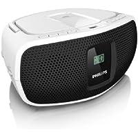 Philips AZ390W Sound Machine Boombox (Black and White)