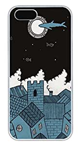 iPhone 5S Cases - Summer Cool The Moon In The Night PC White Case