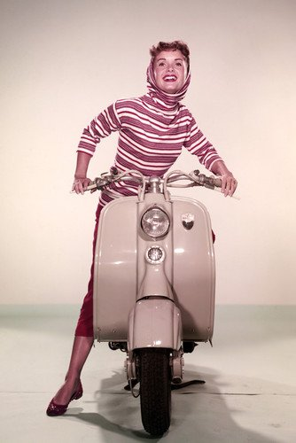 debbie-reynolds-pose-on-classic-vespa-scooter-1950s-24x36-poster