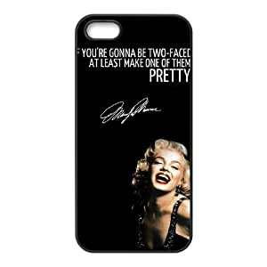 Custom Cover Case with Hard Shell Protection for Iphone 5c case with Marilyn Monroe Quote lxa#90265c6