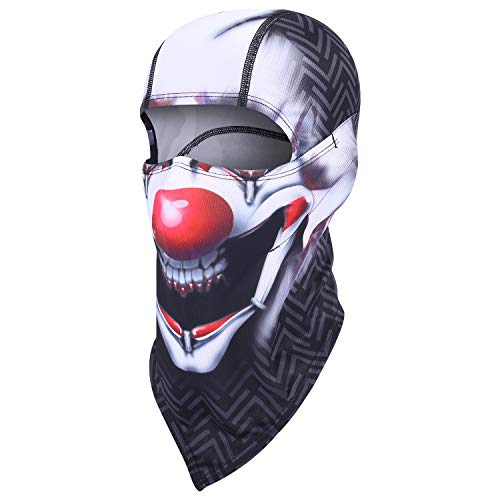 Balaclava Clown Mask - Original Hand Painted Motorcycling Cycling Full Face Head Hood]()