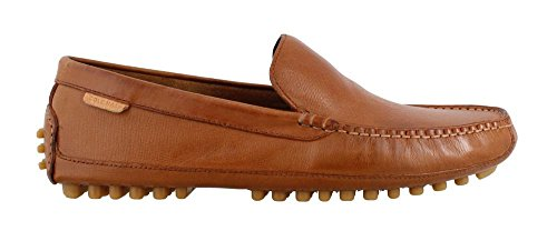 Cole Haan Men's Coburn Venetian Driver II Loafer, British Tan Textured Leather, 12 Medium US