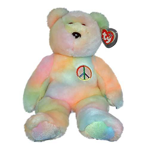 Kimougha TY Beanie Buddy - Peace The Ty-Dyed Bear (Pastel Version)
