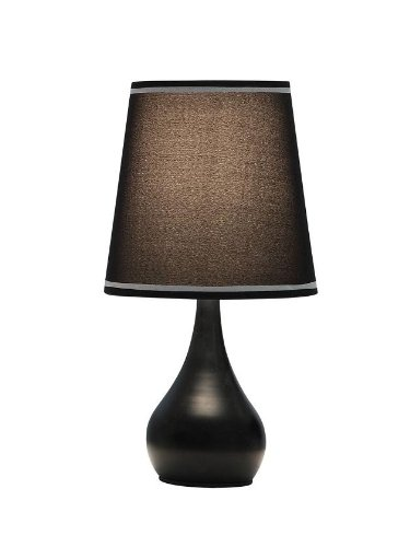 OK LIGHTING OK 816BK Table Touch Lamp, 15u0026quot; ...