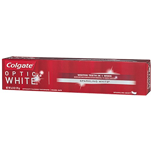 Colgate Optic White Whitening Toothpaste, Sparkling White - 6.3 ounce (6 Pack) by Colgate (Image #8)
