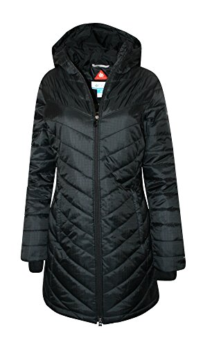 Columbia Women's Morning Light II Omni Heat Long Jacket Coat Puffer, BLACK (S) (Womens Columbia Omni Heat Jacket)