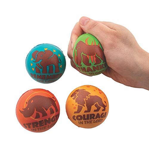 - Fun Express - African Safari Vbs Stress Toy - Toys - Balls - Relaxables - 12 Pieces