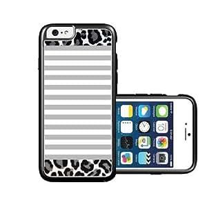 RCGrafix Brand Grey-Stripes-Leopard iPhone 6 Case - Fits NEW Apple iPhone 6