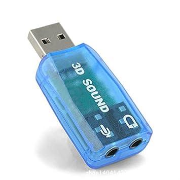 Kekexili-adaptateur USB 5.1 Tarjeta de Sonido Conector USB ...