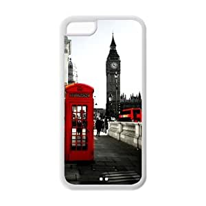 Apple iPhone 5c 5 Red British Phone Booth Big Ben Hard Case Phone Cover London Featured Series Protective Cases