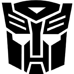 (TRANSFORMERS AUTOBOT - Car, Truck, Notebook, Vinyl Decal Sticker #1036 | Vinyl Color: Black)