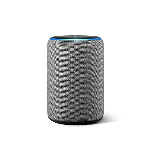 All-new Echo (3rd Gen) - Smart speaker with Alexa - Heather Gray from Amazon