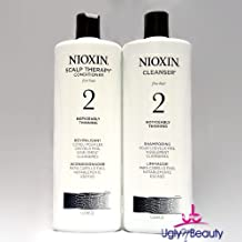 Nioxin System 2 Cleanser & Scalp Therapy Liter Duo 1 L / 33.8 FL. OZ.
