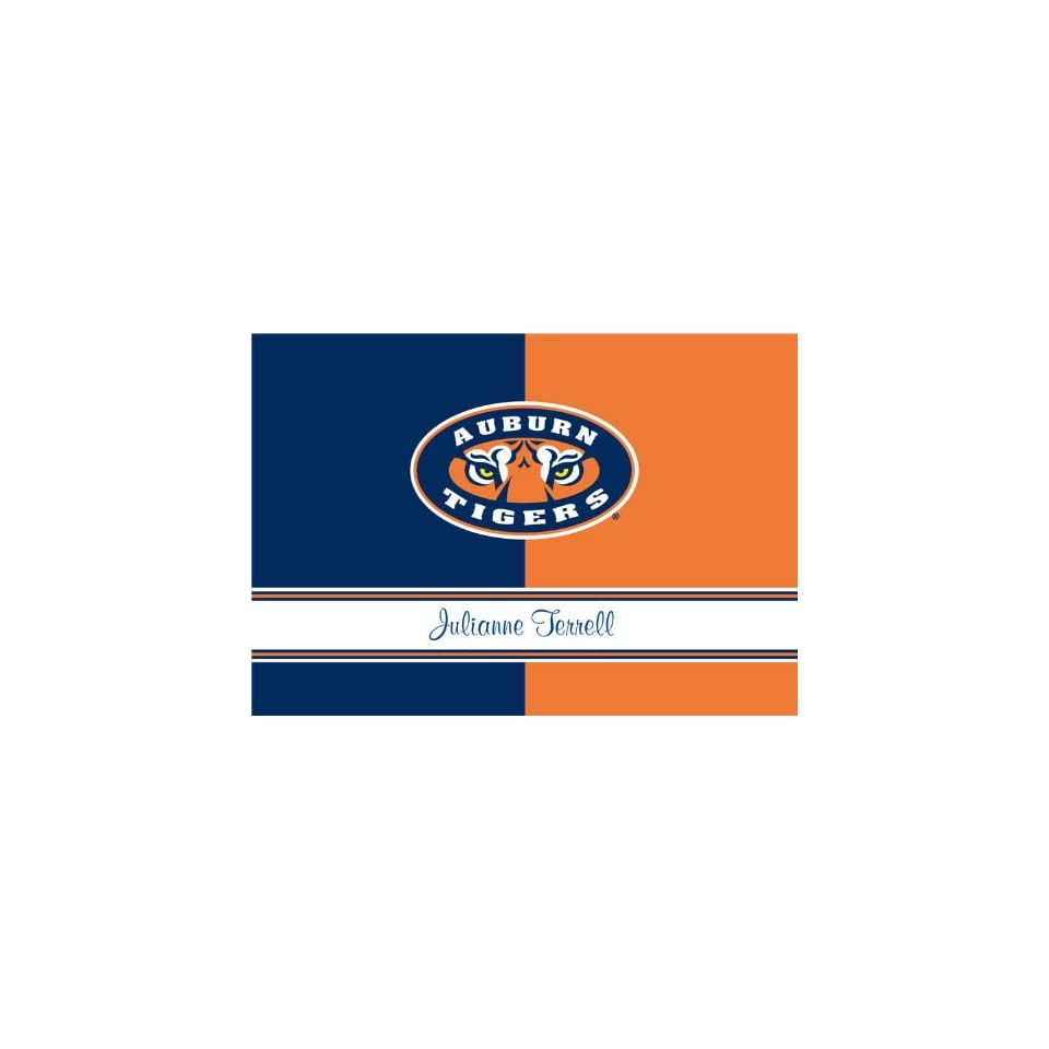 Personalized Auburn University Folded Note Cards Health & Personal